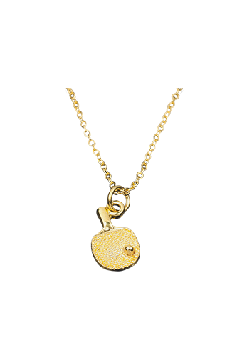 Necklace bat small gold-plated